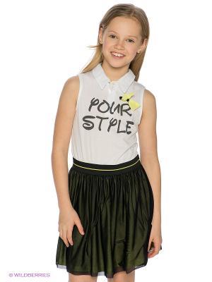 Платье Bell bimbo. Цвет: белый, салатовый, черный