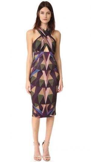 Платье Compass с перекрещенной отделкой спереди Mara Hoffman. Цвет: оливковый