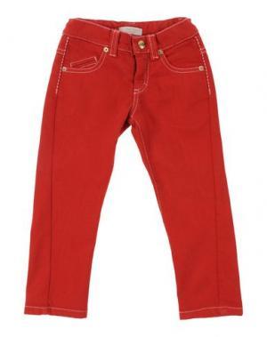 Джинсовые брюки ROBERTO CAVALLI ANGELS. Цвет: красный