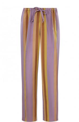 Укороченные брюки с эластичным поясом и стрелками Dries Van Noten. Цвет: сиреневый