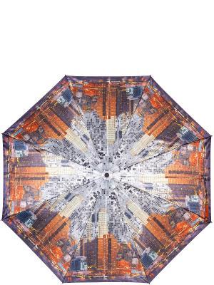 Зонт Eleganzza. Цвет: оранжевый, светло-серый, темно-фиолетовый