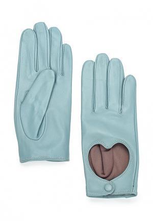Перчатки Labbra. Цвет: голубой