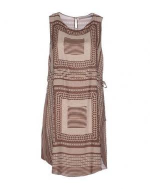 Короткое платье ROSAMUNDA. Цвет: коричневый