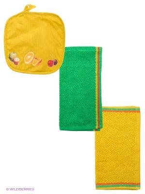 Набор кухонный ARLONI. Цвет: желтый, зеленый