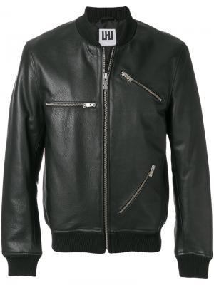 Куртка с отделкой молниями Les Hommes Urban. Цвет: чёрный