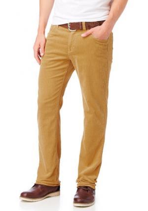 Вельветовые брюки Arizona. Цвет: оранжево-красный, серый, темно-синий, хаки, цвет карри