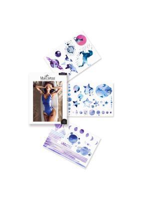 Комплект переводных тату Miami Tattoos Moonlight. Цвет: синий, сиреневый, фиолетовый