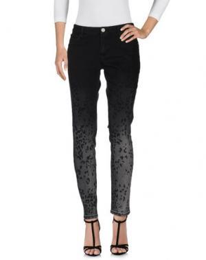 Джинсовые брюки FRANKIE MORELLO. Цвет: черный