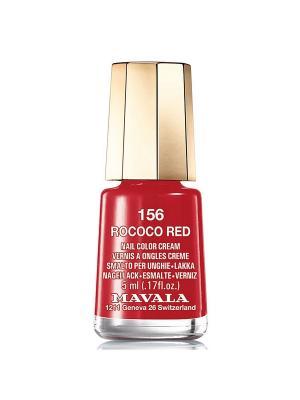 Лак для ногтей тон 156 Rococo Red Mavala. Цвет: красный