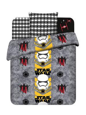 Комплект постельного белья Звездные войны Василек. Цвет: серый, черный