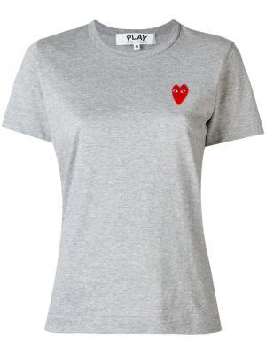 Logo patch T-shirt Comme Des Garçons Play. Цвет: серый