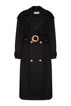 Черное пальто из шерсти и кашемира Ruban. Цвет: черный