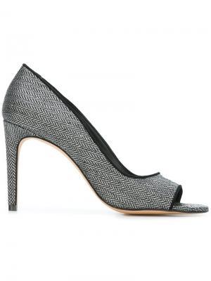 Туфли-лодочки на шпильке с открытым носком Jean-Michel Cazabat. Цвет: чёрный