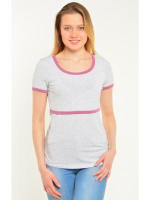 Блузка Ням-Ням. Цвет: светло-серый, розовый