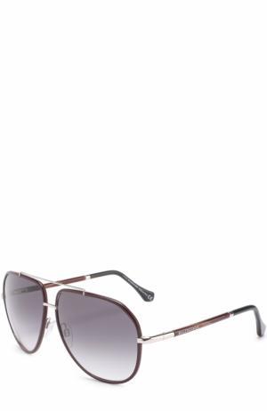 Солнцезащитные очки Balenciaga. Цвет: бордовый