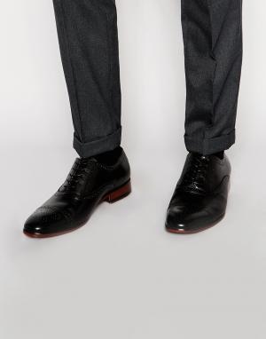 Standard Fortyfive Кожаные оксфордские туфли-броги. Цвет: черный
