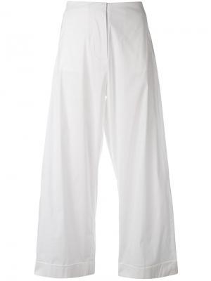 Укороченные брюки Federica Tosi. Цвет: белый