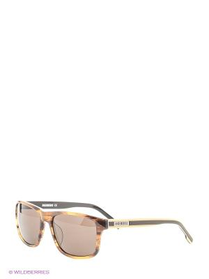 Очки солнцезащитные BK 671S 03 Bikkembergs. Цвет: коричневый