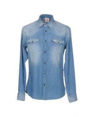 Джинсовая рубашка FRANKLIN & MARSHALL. Цвет: синий