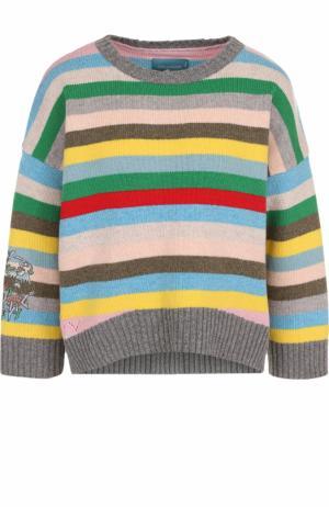 Шерстяной пуловер свободного кроя с в полоску Zadig&Voltaire WFMZ1106F