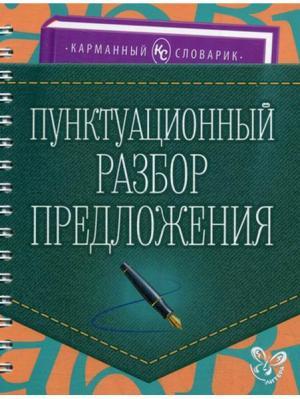 Пунктуационный разбор предложения. Карманный словарик ИД ЛИТЕРА. Цвет: белый