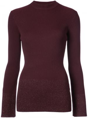 Mock neck ribbed knit Nomia. Цвет: розовый и фиолетовый