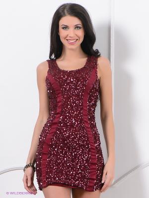 Платье ZARGA. Цвет: бордовый