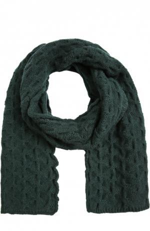 Вязаный кашемировый шарф Kashja` Cashmere. Цвет: темно-зеленый