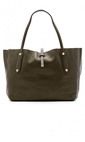 Маленькая сумка тоут isabella Annabel Ingall. Цвет: оливковый