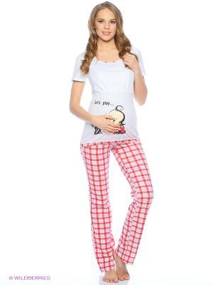 Пижама impressmama. Цвет: белый, розовый