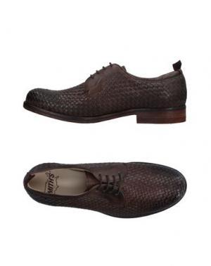 Обувь на шнурках SMITH'S AMERICAN. Цвет: какао
