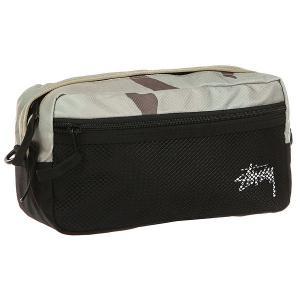 Сумка поясная  Stock Desert Camo Side Bag Stussy. Цвет: черный,бежевый