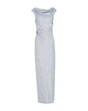 Длинное платье BLUMARINE. Цвет: грифельно-синий