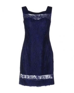 Короткое платье MUSANI COUTURE. Цвет: синий