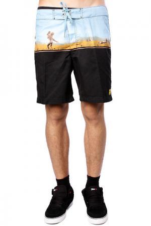 Пляжные мужские шорты  Reckless Youth Mid Nude Black Insight. Цвет: черный,синий