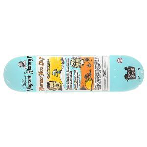 Дека для скейтборда  Gerwer Vagrant History Multi 31.25 x 8.12 (20.6 см) Antihero. Цвет: голубой,мультиколор