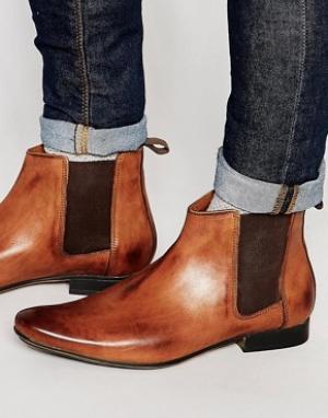 Frank Wright Светло-коричневые кожаные ботинки челси. Цвет: рыжий