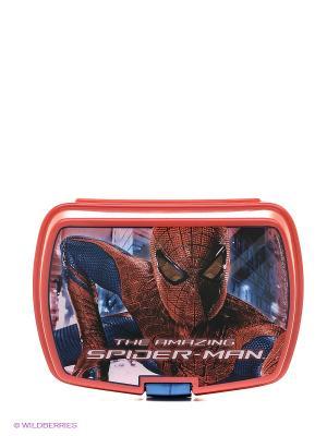 Контейнер для бутербродов с доп. Лотком Человек-паук Stor. Цвет: красный, синий