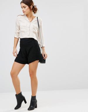 Uncivilised Короткая юбка‑шорты Garcia. Цвет: черный