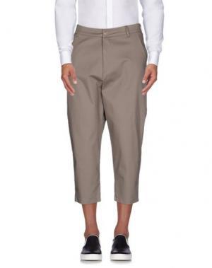 Повседневные брюки 26.7 TWENTYSIXSEVEN. Цвет: голубиный серый