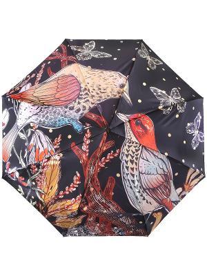 Зонт Trust. Цвет: черный, рыжий