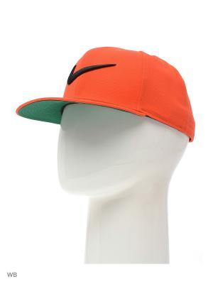 Бейсболка SWOOSH PRO - BLUE Nike. Цвет: оранжевый, черный