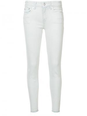 Укороченные джинсы скинни Derek Lam 10 Crosby. Цвет: белый