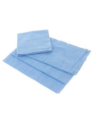 Махровое полотенце-голубой-50х90-100% хлопок, УзТ-МПМ-004-01-06 Aisha. Цвет: голубой