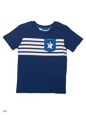 Футболка Modis. Цвет: темно-синий, серо-голубой
