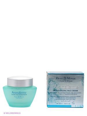 Увлажняющий освежающий крем для лица с эфирными маслами Frais Monde. Цвет: белый, бирюзовый