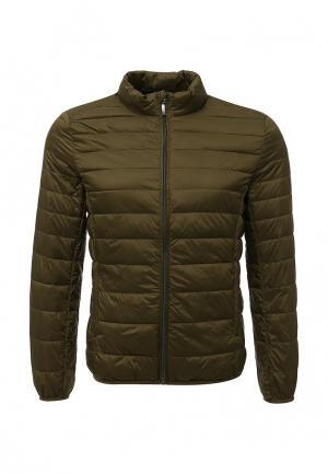 Куртка утепленная Sisley. Цвет: хаки