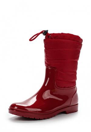 Резиновые сапоги Keddo. Цвет: красный