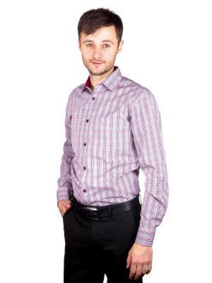 Рубашка GREG. Цвет: белый, красный