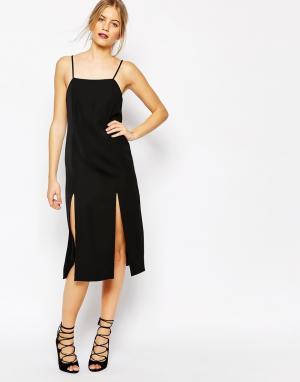 C/meo Collective Черное платье Playmate. Цвет: черный